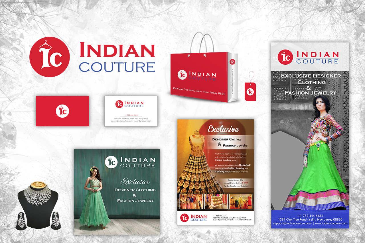 Indian Couture Branding Material