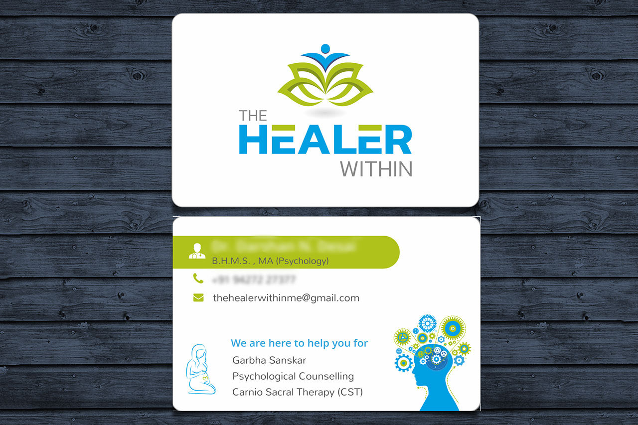 The Healer Within Branding - Visiting Card